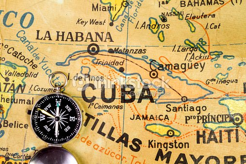 Old Map Of The Antilles And Caribbean Sea Stock Photo | Thinkstock