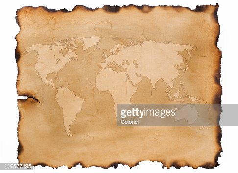 Old Map Parchment Stock Photo | Getty Images
