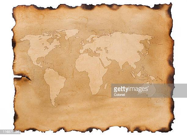 Old Map Parchment (clipping path)