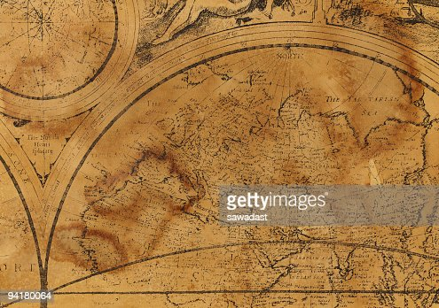 Old map with ancient view of continents and world division stock old map with ancient view of continents and world division stock photo gumiabroncs Image collections