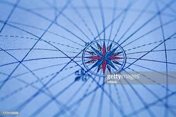Alte Karte mit Kompass