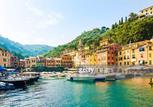 Old marina in Portofino, Italy
