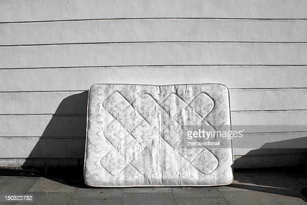 Old mattress on street