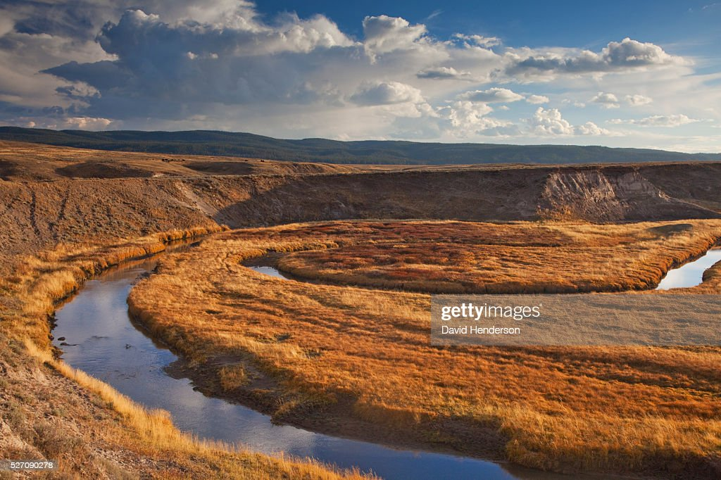Old meanders of Yellowstone River, Wyoming, USA : Stockfoto