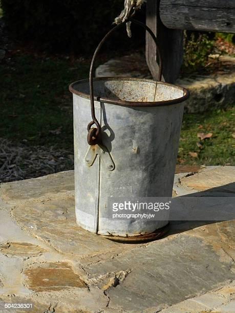 Old Metal Well Water Bucket