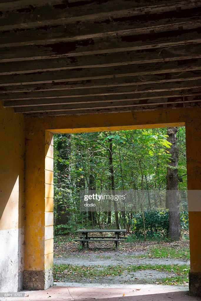 Old mill no Parque Monza : Foto de stock