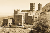 Old Monastery called Sant Pere de Rodes in the National Park of Cap de Creus, at the Costa Brava in Catalonia, Spain.
