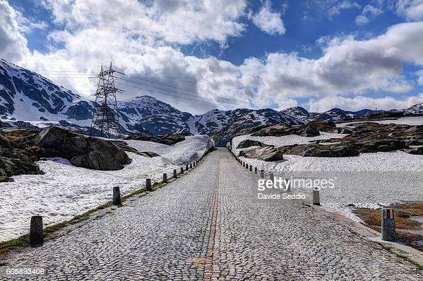 Old mountain pass road on Gotthard, Switzerland