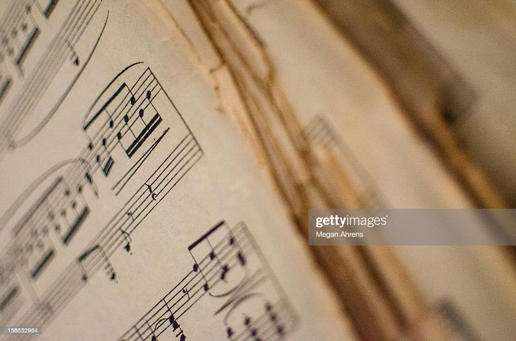 Old Music Sheets : Stock Photo