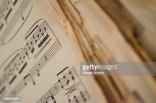 Old Music Sheets : Bildbanksbilder