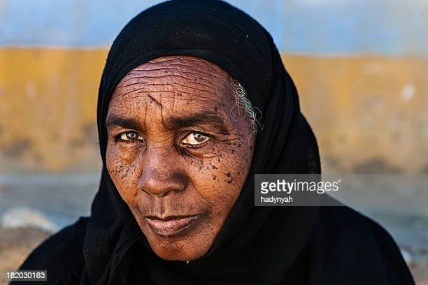 Old Muslim woman in Southern Egypt