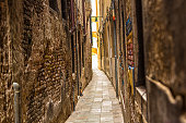 Old narrow alley in Venice