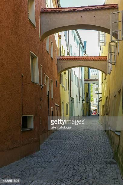 old narrow streets at passau germany