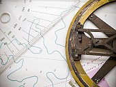 Old nautical compass