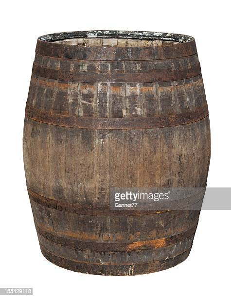 Old Oak Barrel Isolated on White