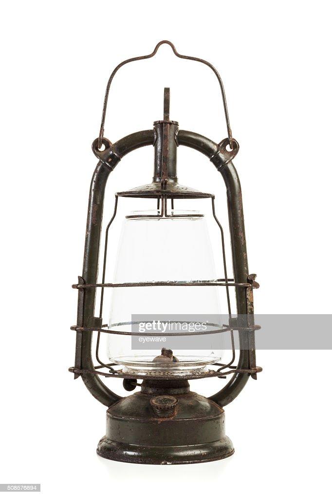 Alte Öllampe isoliert : Stock-Foto