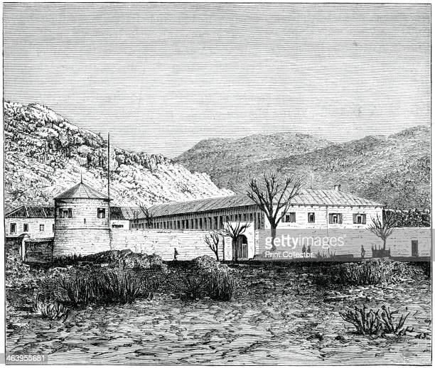 Old palace of the prince of Montenegro Cettigne Republic of Montenegro 1900 Illustration from The Life and Times of Queen Victoria by Robert Wilson...