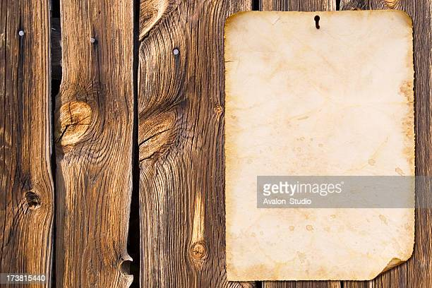 Old paper and wood background wall