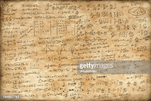 Altes Papier mit equations : Stock-Foto