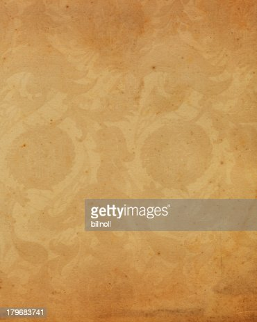 old paper with antique floral pattern