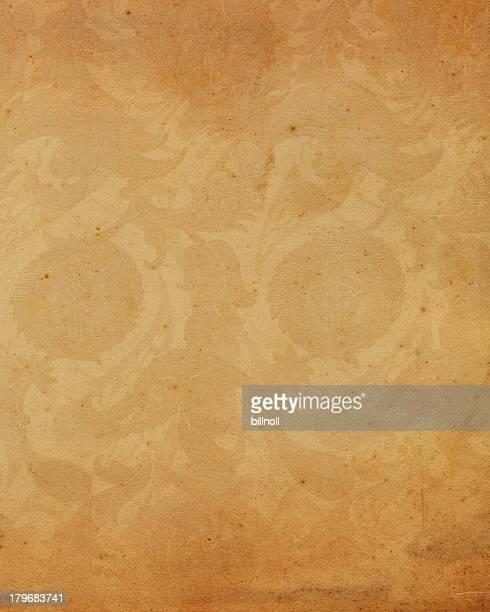 Altes Papier mit alten Blumenmuster