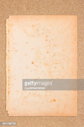 Old paper with wooden board. : Stock Photo