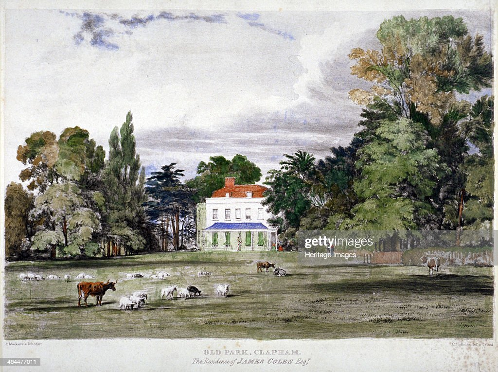 Old Park Clapham London c1830 View of the residence of James Coles
