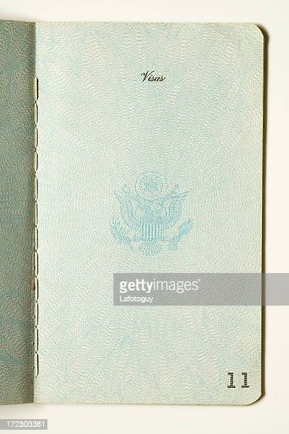 Old Passport,Blank Visa Page