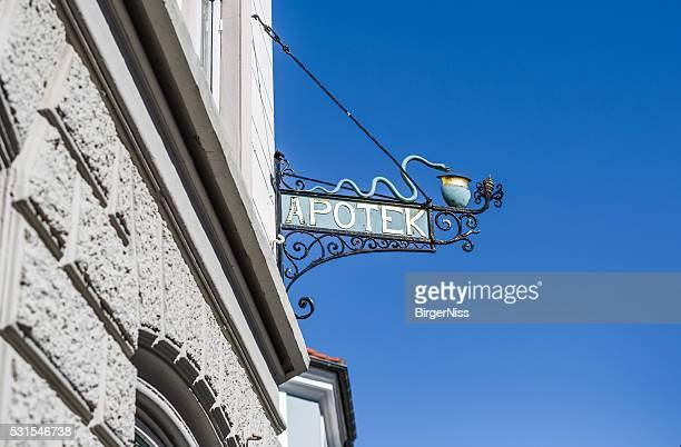 Old pharmacy sign, Nyborg, Denmark