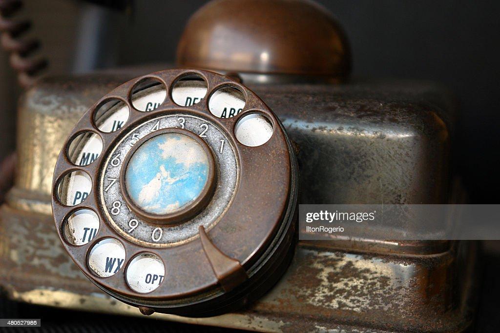 Alte Telefon : Stock-Foto