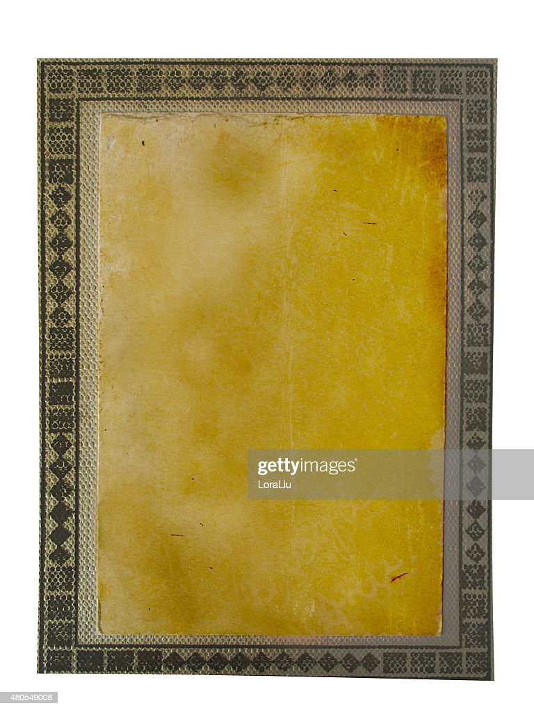 Old photo paper texture isolated on white background : Stock Photo