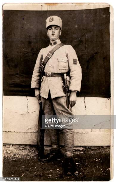 Altes Foto einer jungen Soldier