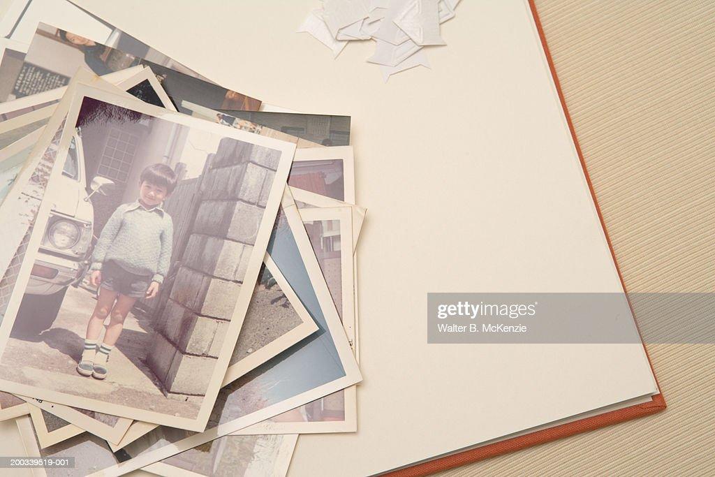 Old photographs in album