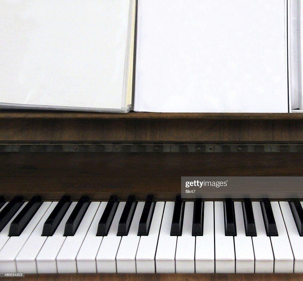 Old piano keys : Stock Photo