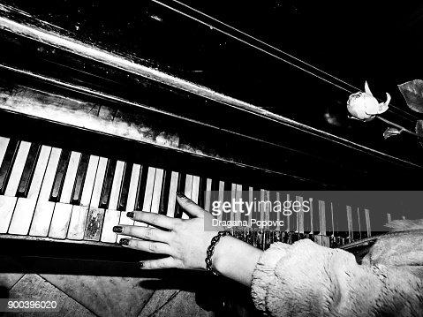 Old piano : Stock Photo