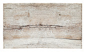 Old piece of white weathered wood board