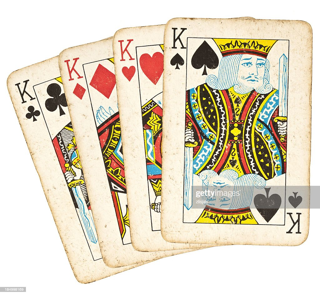 Old Playing Cards - Set of Kings