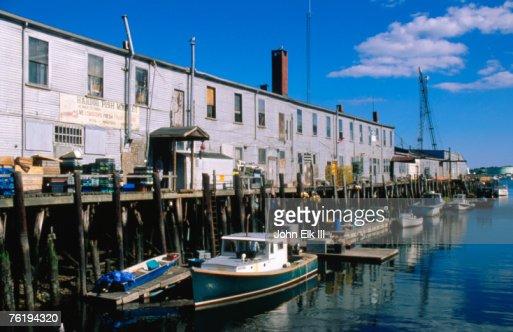 Old port exchange area fishing docks portland maine united for Portland maine fishing