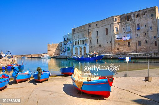 Old port. Monopoli. Puglia. Italy. : Stock Photo
