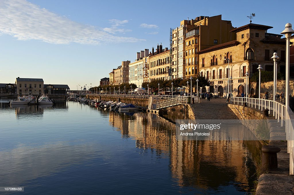 Old port of Gijon, Spain : Stock Photo