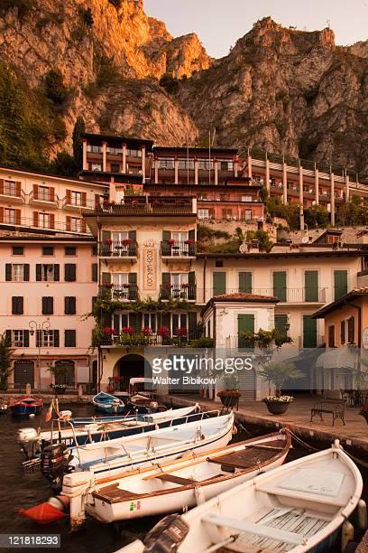 Old port, Porto Vecchio, Limone sul Garda, Lake Garda, Lake District, Lombardy, Italy