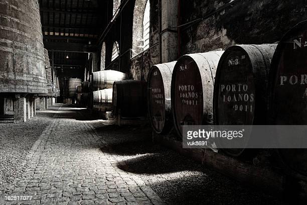 Old Porto wine cellar