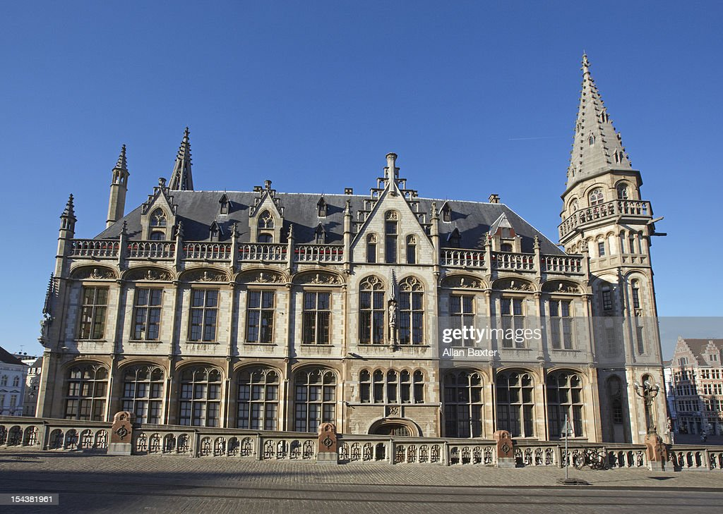 Old post office in Ghent : Stock Photo