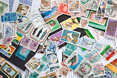 Old postage stamps from different countries