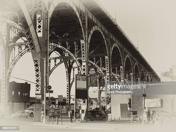 Old postcard of the Riverside Drive Viaduct, NYC