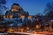 CONTENT] Old Quebec and his landmark beautiful chateau Frontenac as seen on a typical winter night