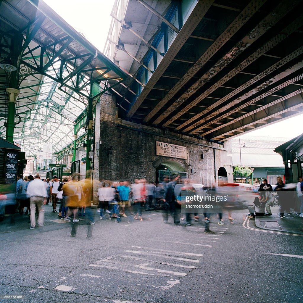 Old railway bridge running over Borough Market
