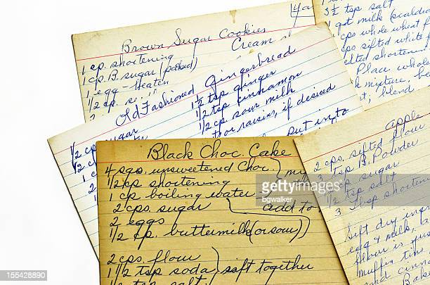 Old Recipe Cards