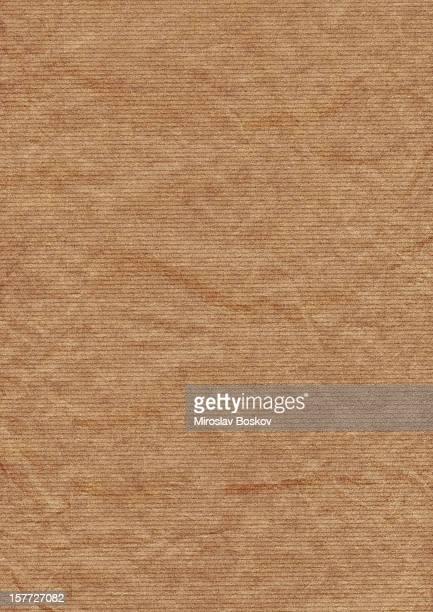 Alt braun gestreiftes Kraft Recycling-Papier Textur mit hoher Auflösung