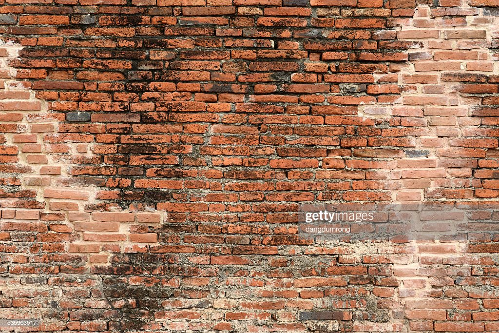 Old red brick textured wall : Stock Photo